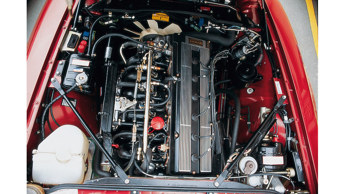 Jaguar E-Type XJ-SC 3.6, Motorraum, Detail