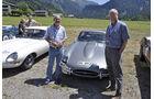 Jaguar E-Type bei der Silvretta Classic 2010 - Willi Meier und Ken Forbes