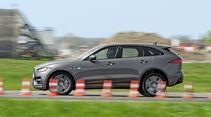 Jaguar F-Pace 30d AWD, Bremstest, Seitenaufbau