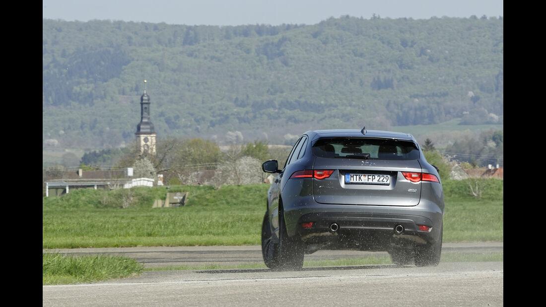 Jaguar F-Pace 30d AWD, Heckansicht