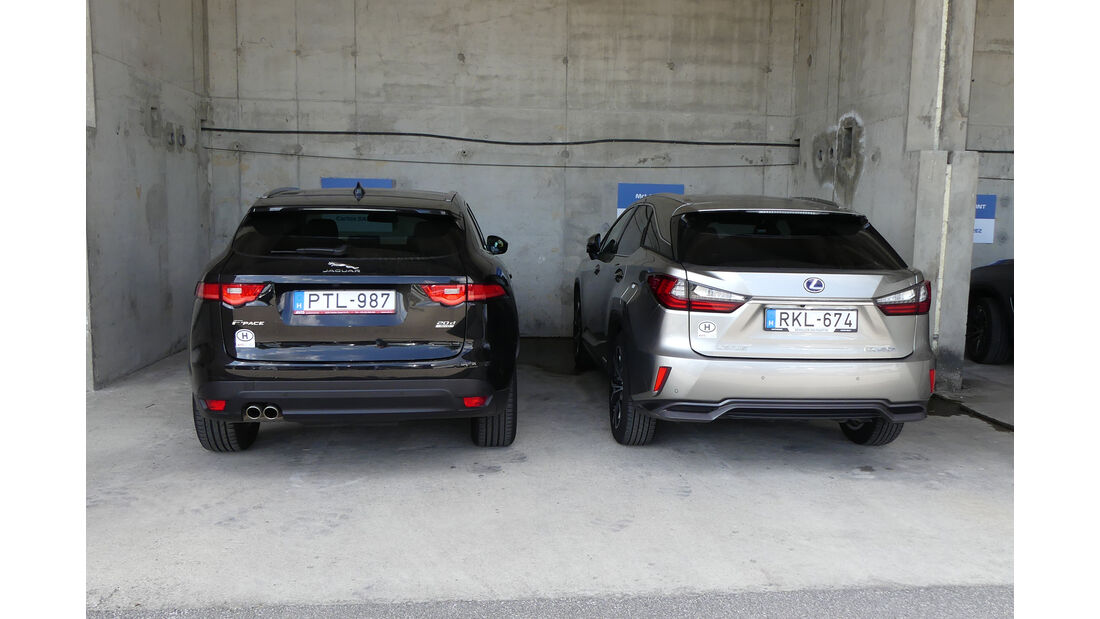 Jaguar F-Pace & Lexus RX 450h - Dienstwagen - F1-Piloten 2019