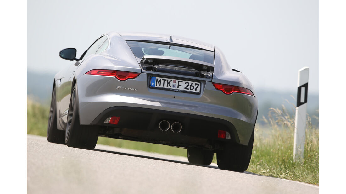 Jaguar F-Type 3.0 V6 Coupé, Heckansicht