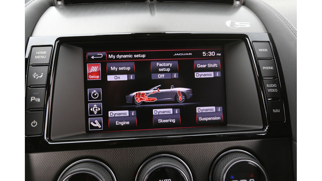 Jaguar F-Type, Bordcomputer, Display