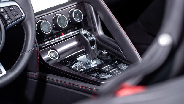 Jaguar F-Type Cabrio P300 Chequered Flag, Interieur