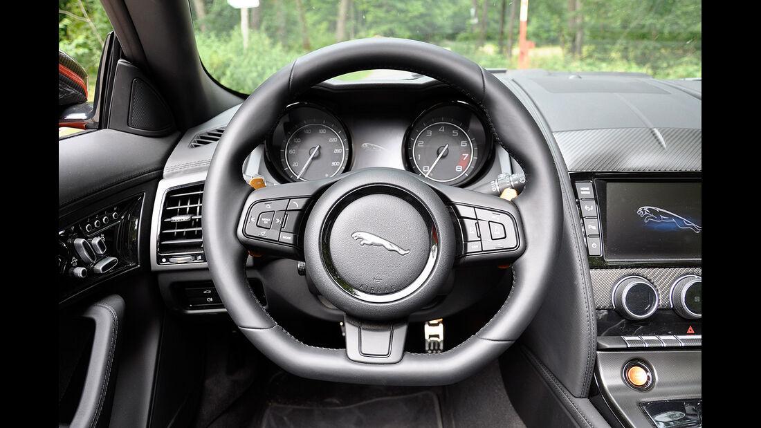 Jaguar F-Type, Cockpit, Lenkrad