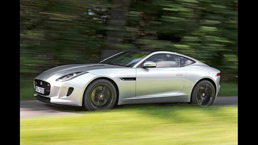 Jaguar F-Type Coupé S, Seitenansicht