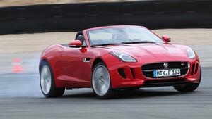 Jaguar F-Type, Frontansicht, Driften