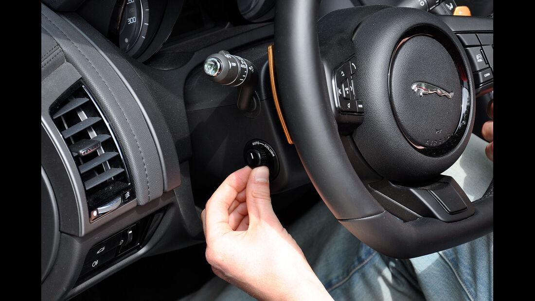 Jaguar F-Type, Lenkradeinstellung elektrisch