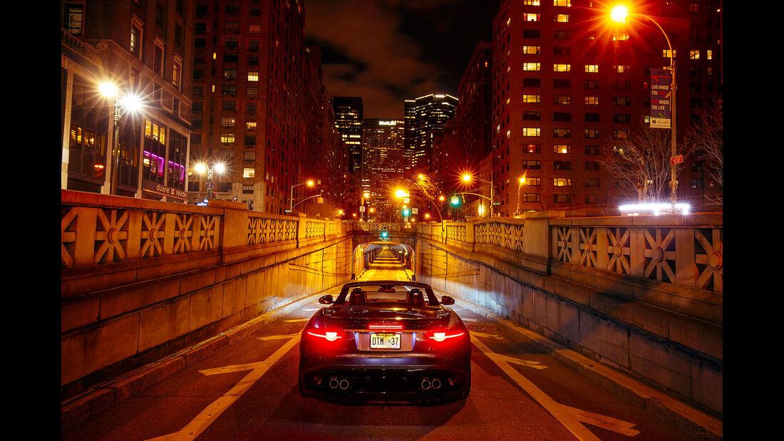 Jaguar F-Type Park Avenue Tunnel New York