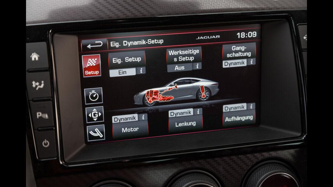 Jaguar F-Type R AWD Coupé, Infotainment, Display