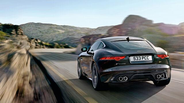 jaguar f-type r coupé im fahrbericht: geschlossener 550-ps
