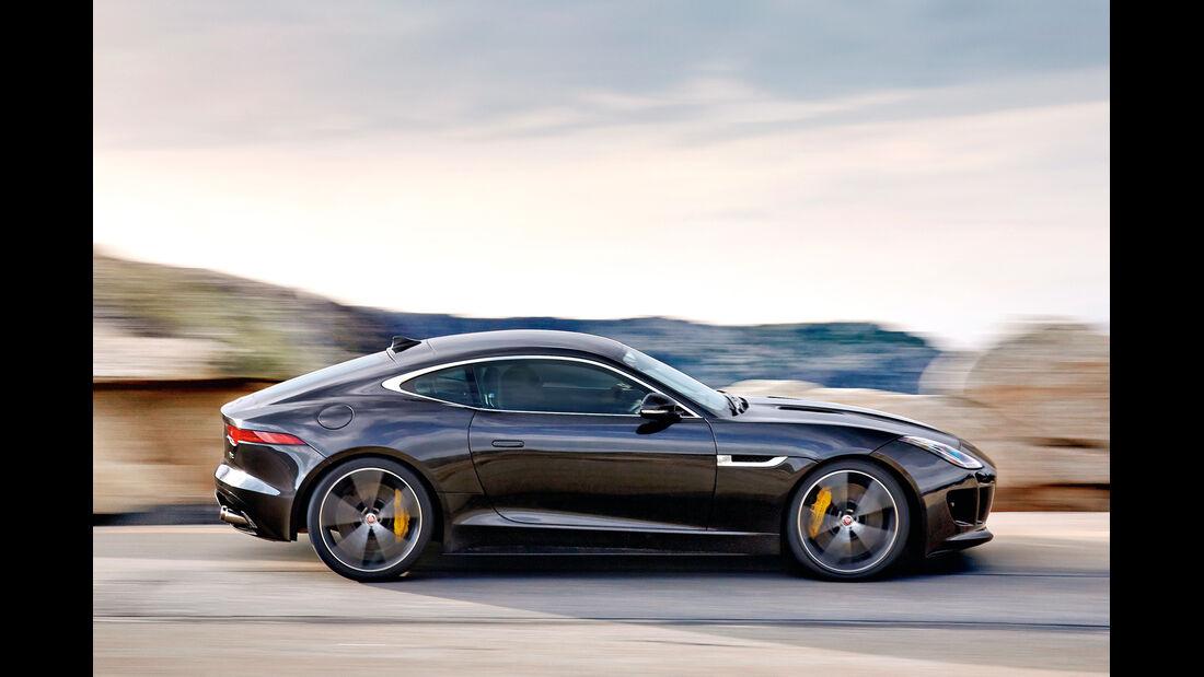 Jaguar F-Type R Coupé, Seitenansicht