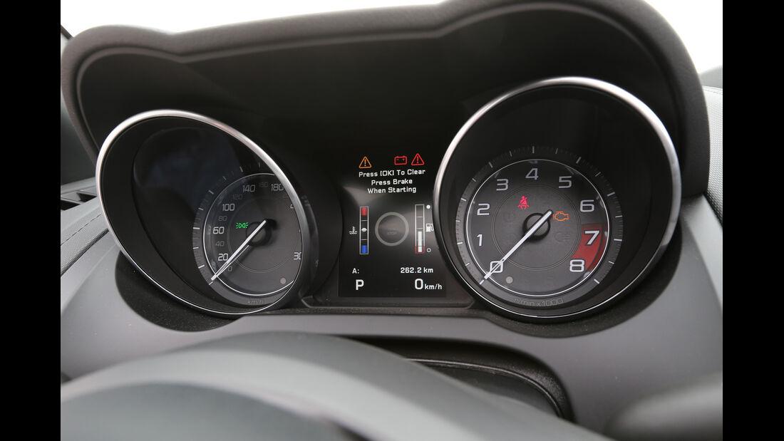 Jaguar F-Type, Rundinstrumente