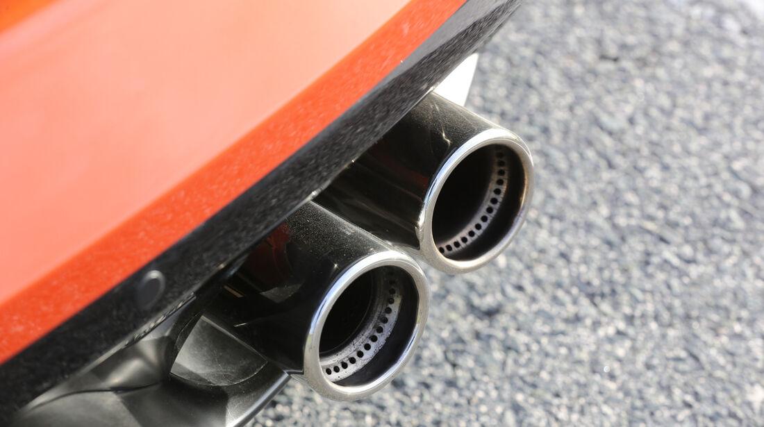 Jaguar F-Type S, Auspuff, Endrohr