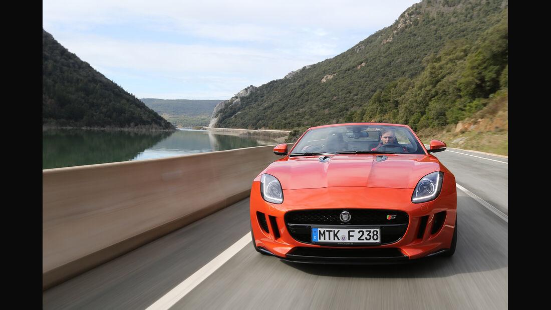 Jaguar F-Type S, Frontansicht, Kühlergrill