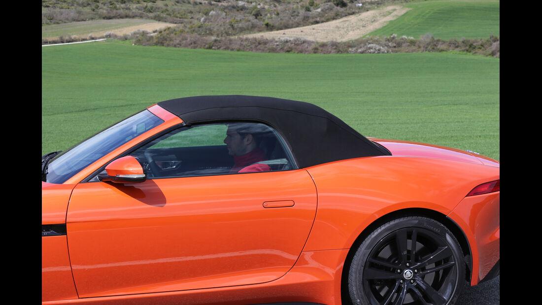 Jaguar F-Type S, Verdeck, geschlossen