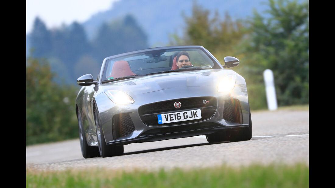 Jaguar F-Type SVR Cabriolet, Frontansicht