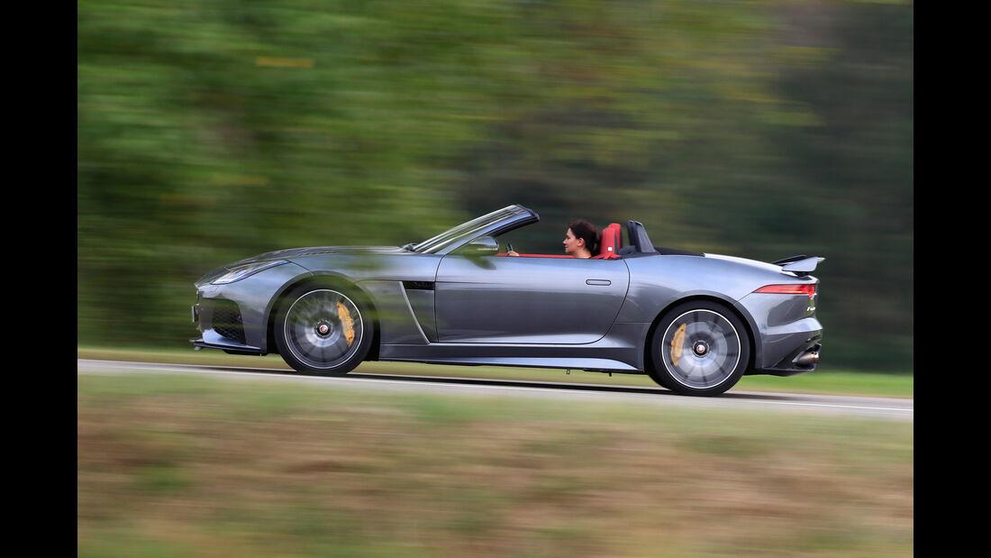 Jaguar F-Type SVR Cabriolet, Seitenansicht