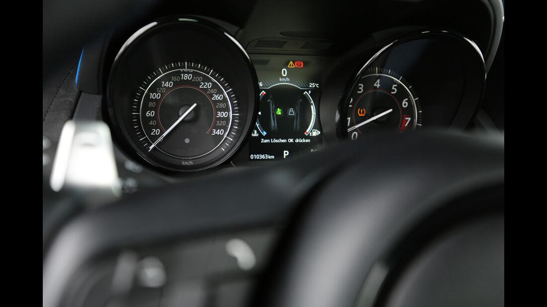 Jaguar F-Type SVR, Rundinstrumente