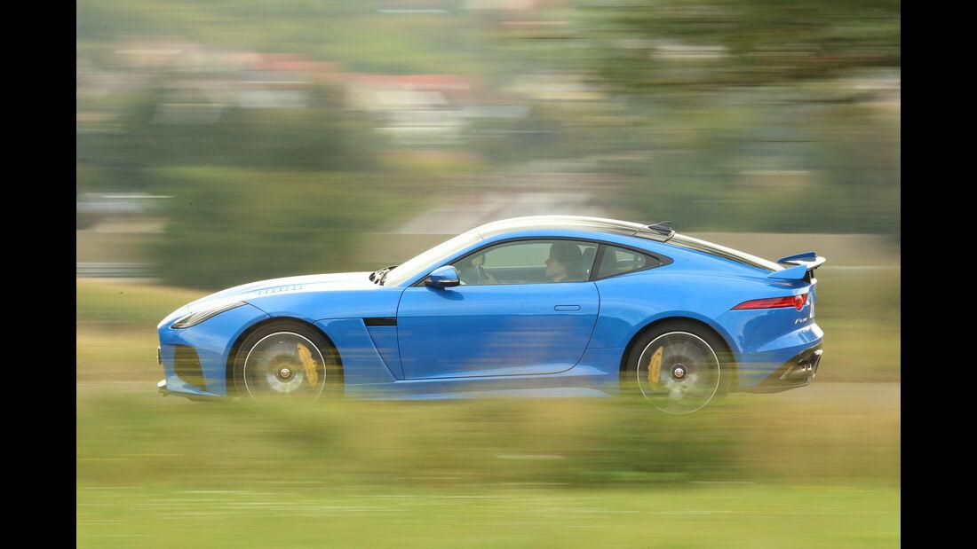Jaguar F-Type SVR, Seitenansicht