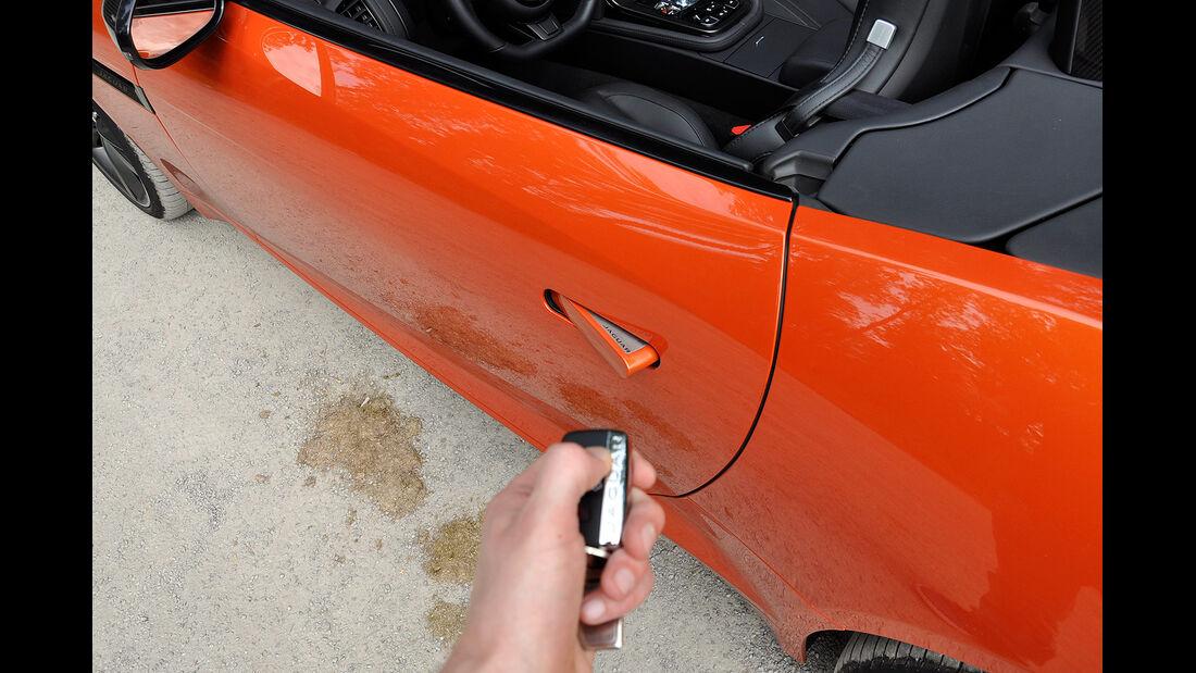Jaguar F-Type, Schlüssel, Türgriff