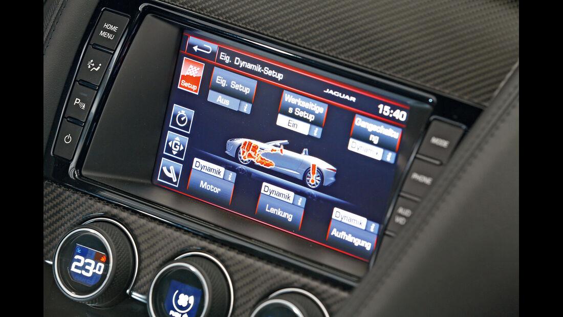 Jaguar F-Type V6 S, Bordcomputer, Monitor