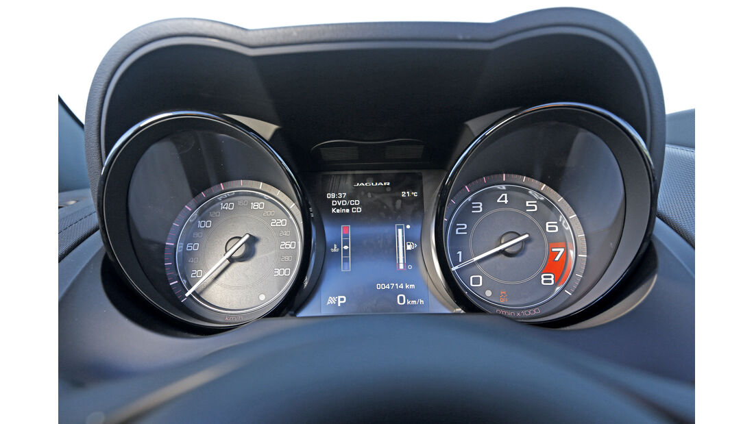 Jaguar F-Type V6 S, Rundinstrumente