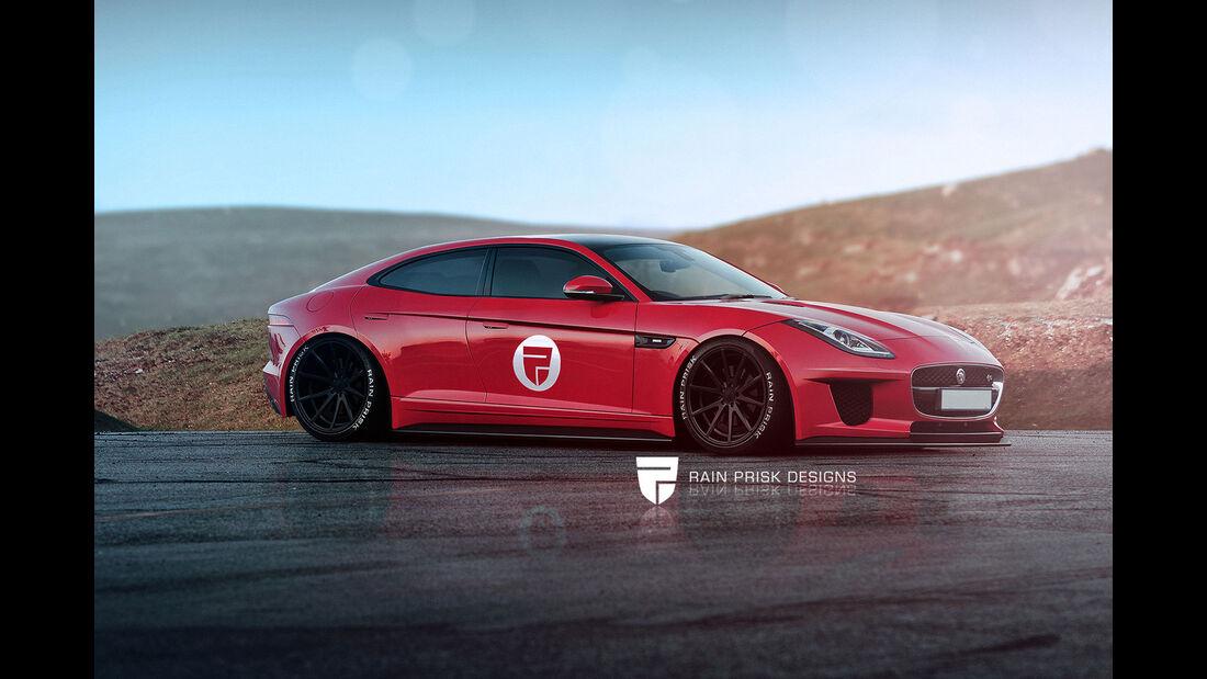 Jaguar F-Type Viertürer - Fantasie-Auto