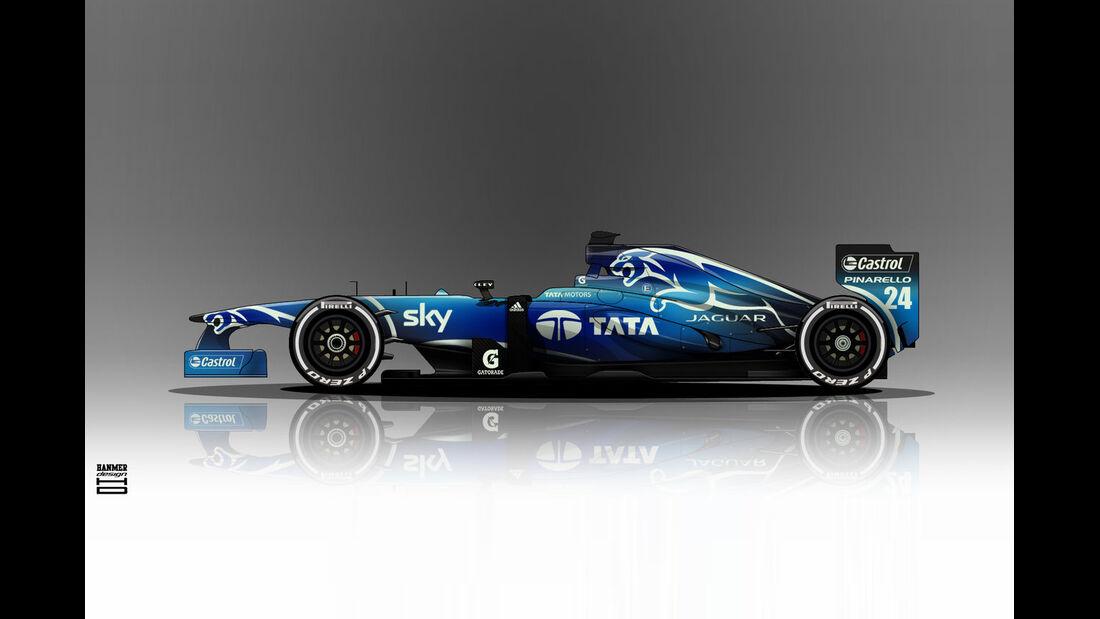 Jaguar - Formel 1 - Lackierung - Design-Concept