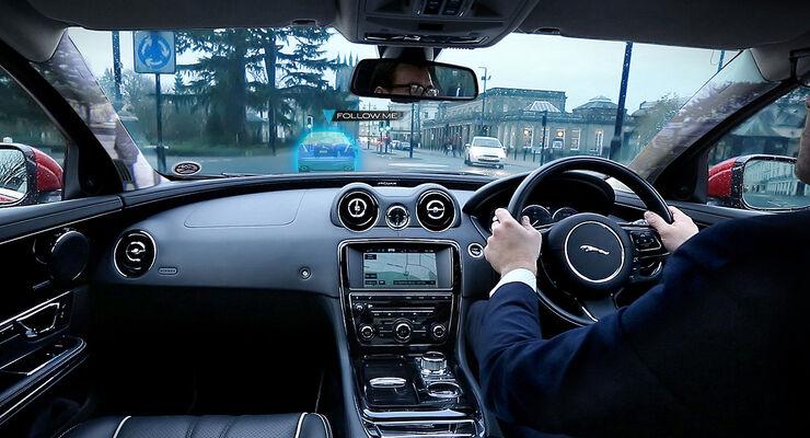 Jaguar Land Rover Ghost car transparente A-Säulen