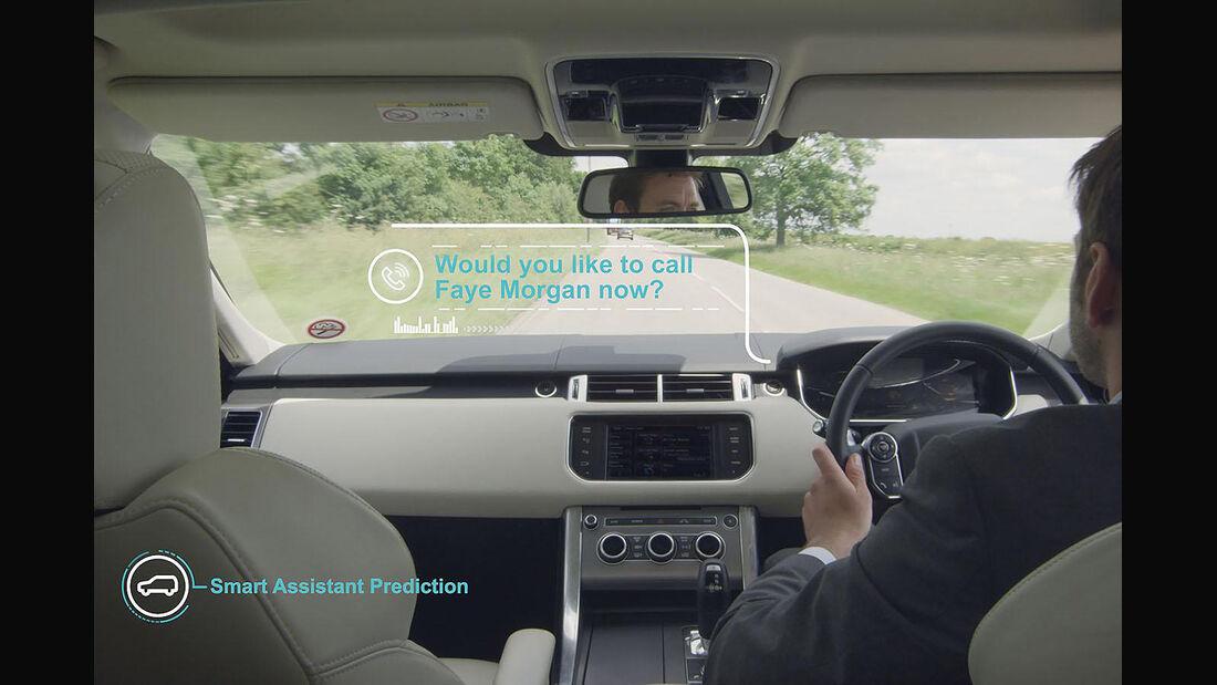 Jaguar Land Rover Technik Lernendes Auto Head-Up Display