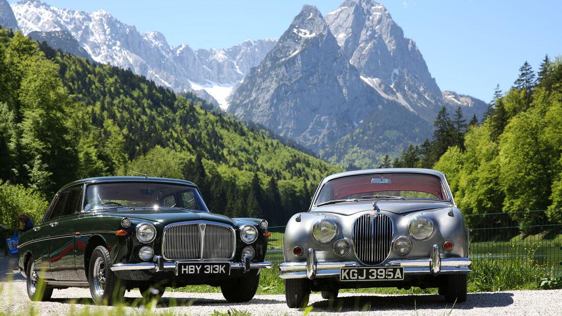 Jaguar MK II, Rover P5B, Frontansicht