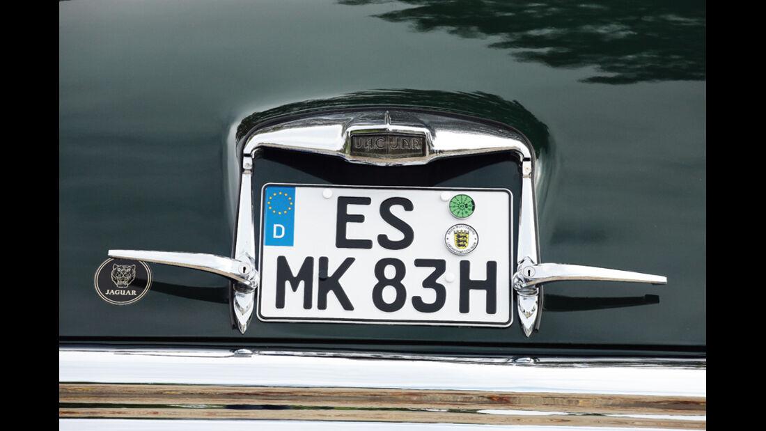 Jaguar Mark VII, Nummernschild