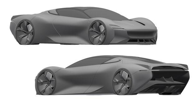 Jaguar Supersportwagen Patent Zeichnungen