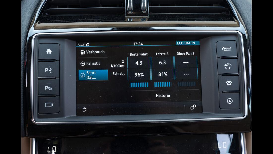 Jaguar XE 20d, Display, Infotainment