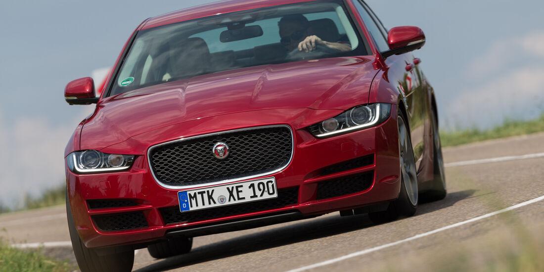 Jaguar XE 20d, Frontansicht