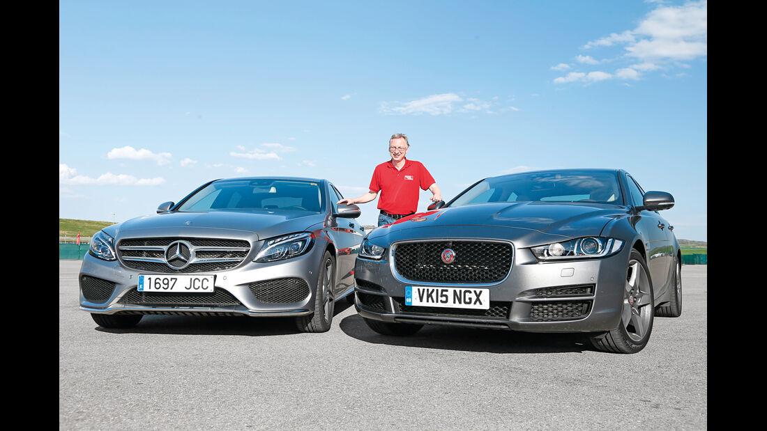 Jaguar XE 25t, Mercedes C220 Bluetec, Bernd Stegemann