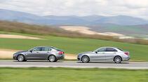 Jaguar XE 25t, Mercedes C220 Bluetec, Seitenansicht