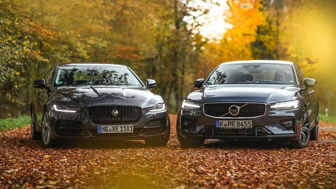 Jaguar XE P250, Volvo S60 TS, Exterieur