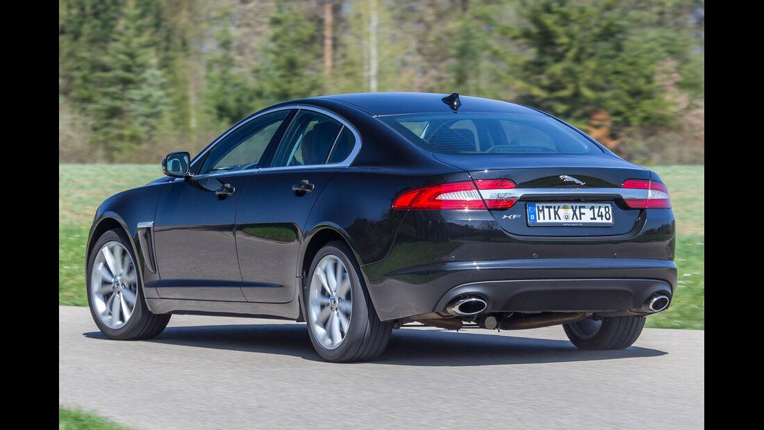 Jaguar XF 3.0 V6, Heckansicht