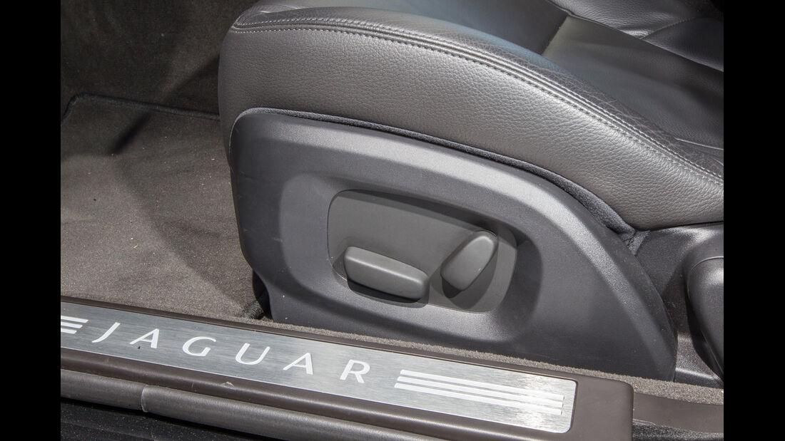 Jaguar XF 3.0 V6, Sitzverstellung