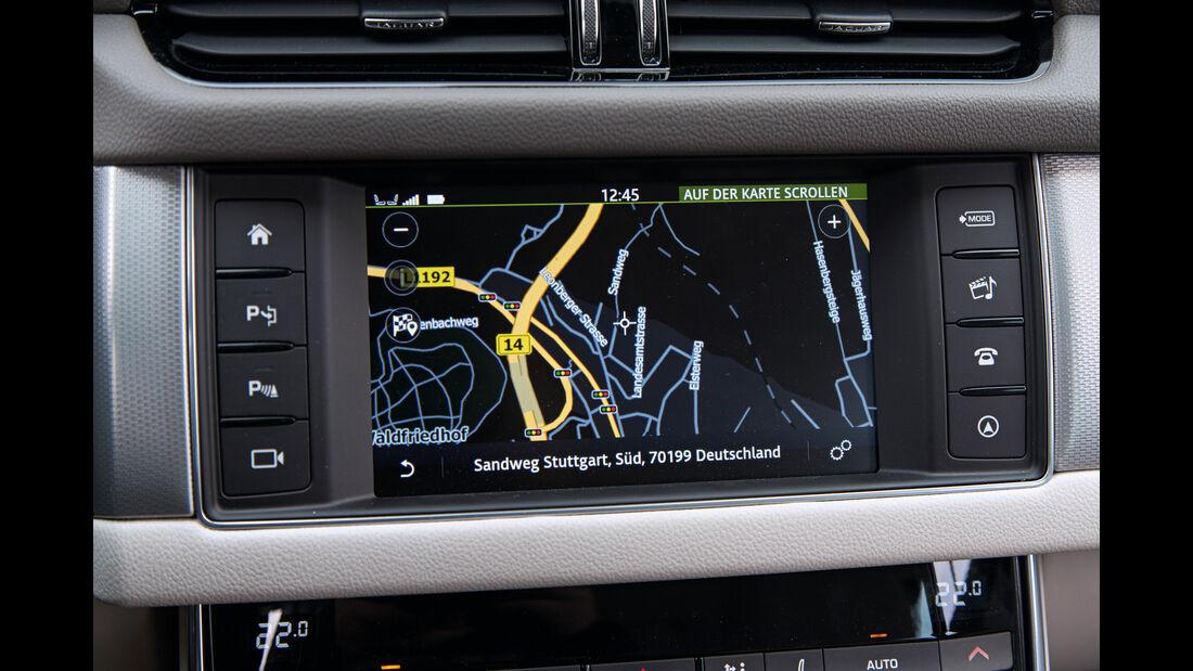 Jaguar XF 35t Prestige, Navi, Monitor