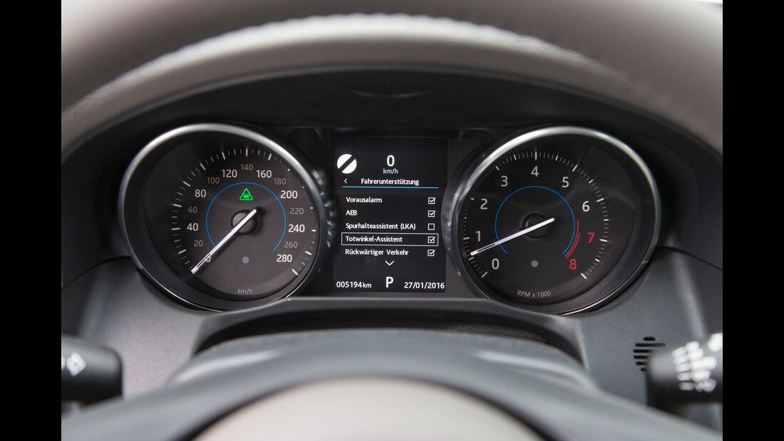 Jaguar XF 35t Prestige, Rundinstrumente