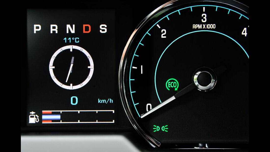 Jaguar XF, Anzeige, Drehzahl