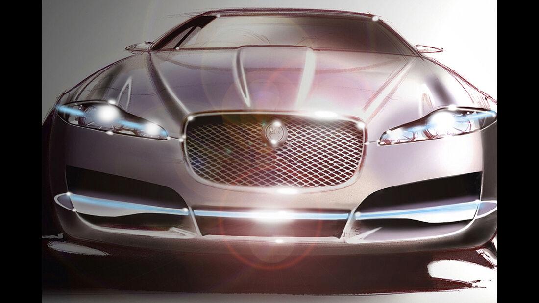 Jaguar XF Skizze