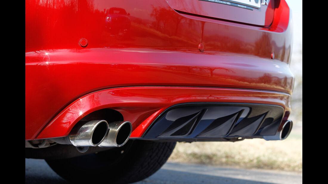 Jaguar XFR, Endrohr, Auspuff