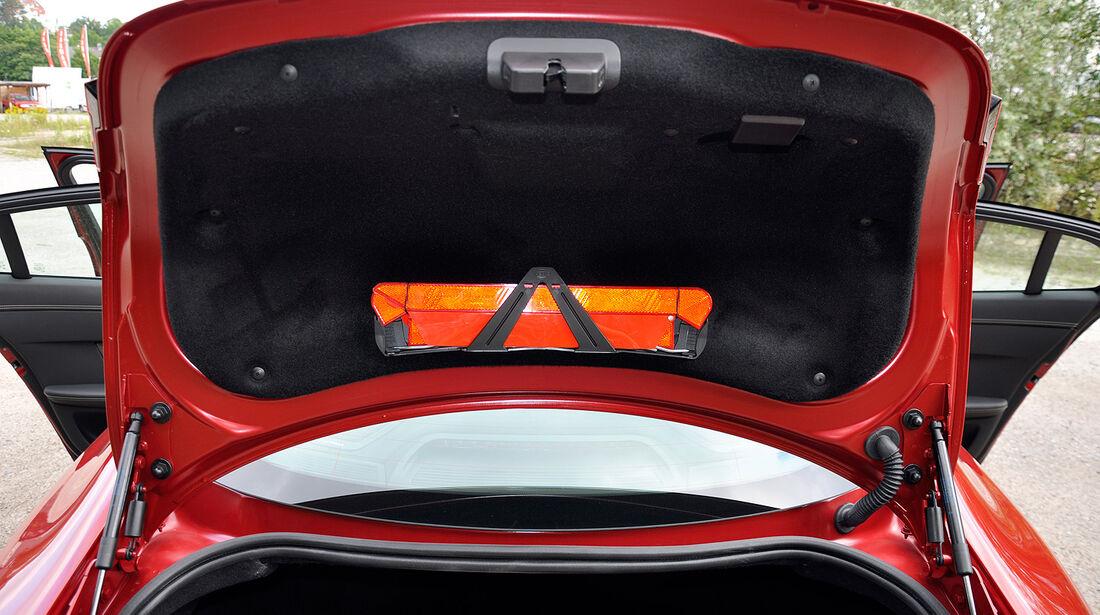 Jaguar XFR, Kofferraum, Heckklappe, Warndreieck