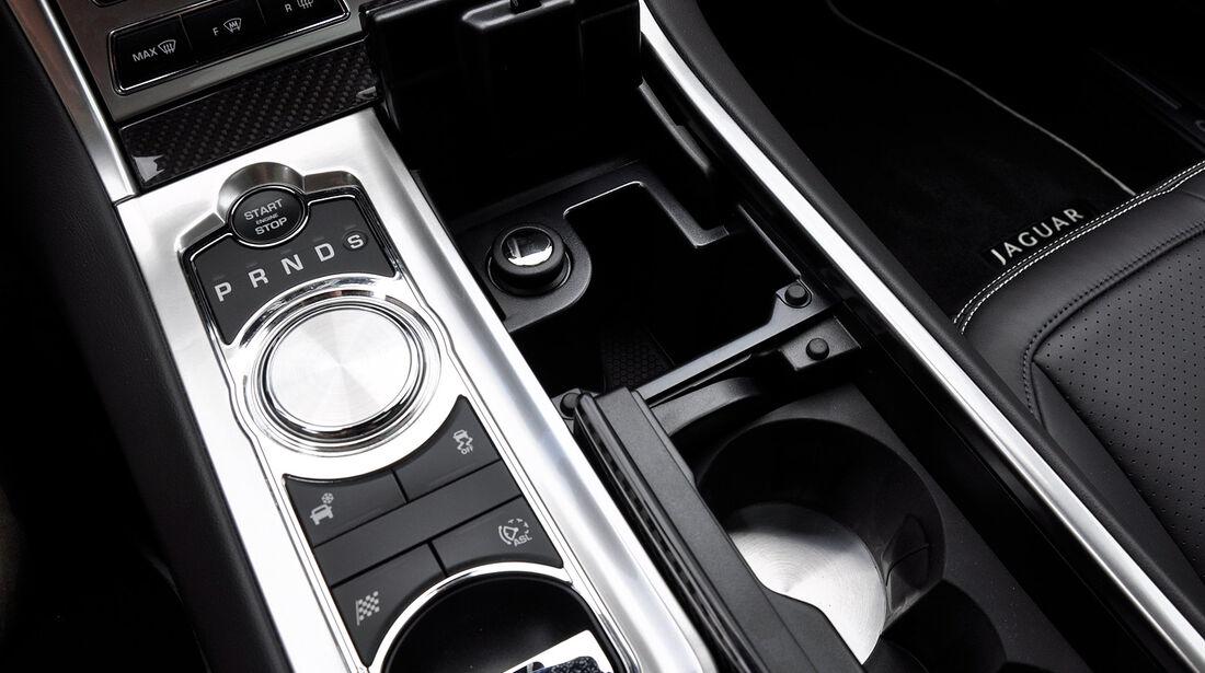 Jaguar XFR, Mittlekonsole, Ablagefach, Getränkehalter