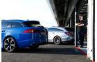 Jaguar XFR-S Sportbrake, Mercedes CLS 63 AMG S Shooting Brake, Heck