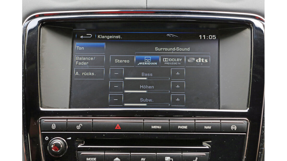 Jaguar XJ, Navi, Monitor
